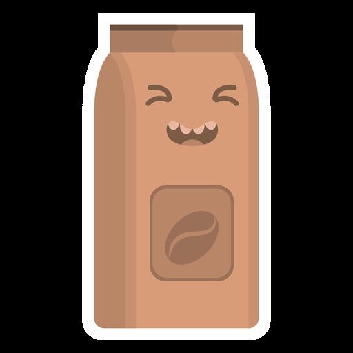 Pegatina matraz café plana Transparent PNG