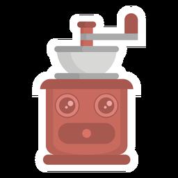 Coffee grinder sticker flat