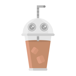 Coffee sipper sticker flat