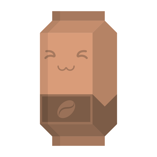 Etiqueta engomada plana café tetra pack