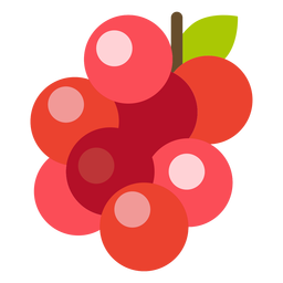 Cranberries fruit flat
