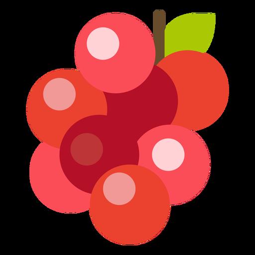 Cranberries fruit flat Transparent PNG