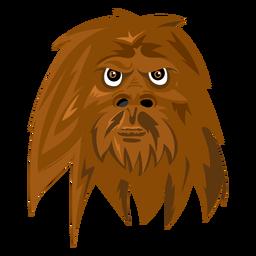 Macaco de criatura como ícone