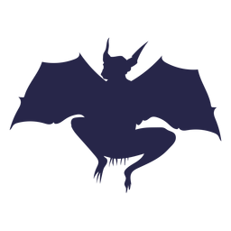 Silhueta de morcego de criatura