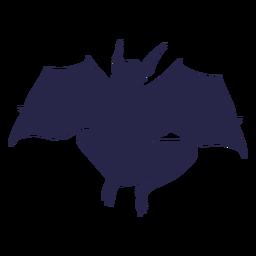 Silueta de murciélago de criatura