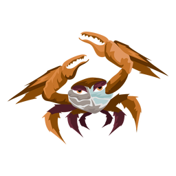 Icono de cangrejo de criatura