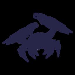 Silhueta de caranguejo de criatura