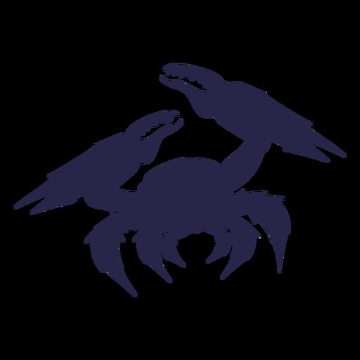 Silueta de cangrejo de criatura