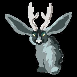 Icono de conejo ciervo criatura