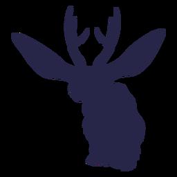 Criatura ciervo conejo silueta