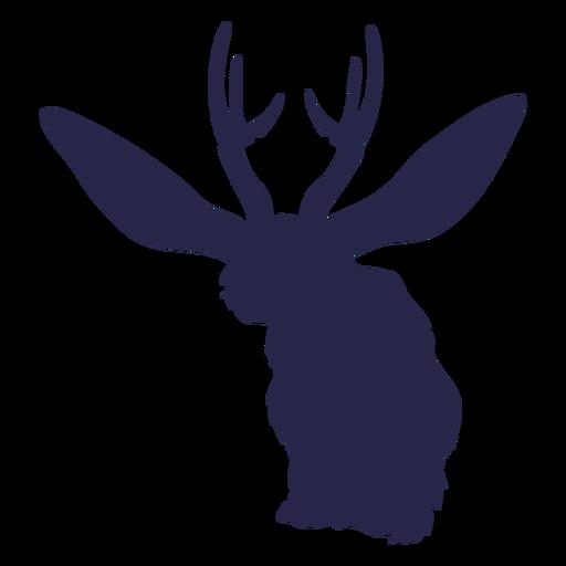 Criatura ciervo conejo silueta Transparent PNG