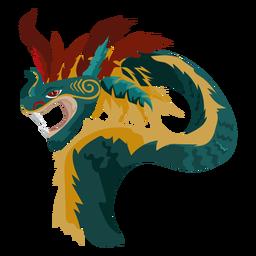 Icono de dragón de criatura