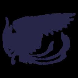 Silueta de águila de criatura