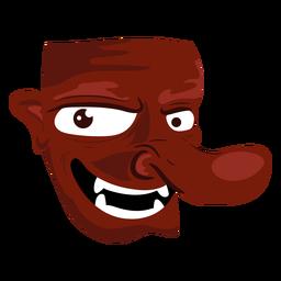 Icono de máscara malvada criatura