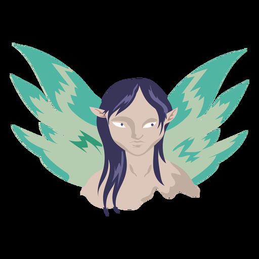 Criatura volando icono femenino Transparent PNG