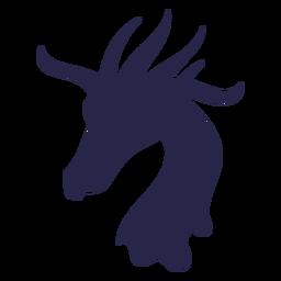 Criatura jirafa como silueta