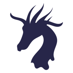 Jirafa de criatura como silueta