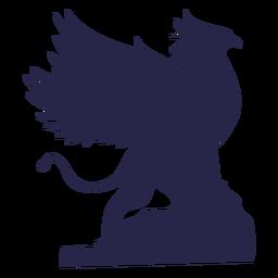 Silhueta de grifo de criatura