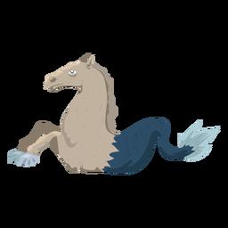 Icono de pez caballo criatura