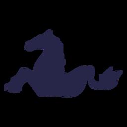 Silueta de pez caballo criatura