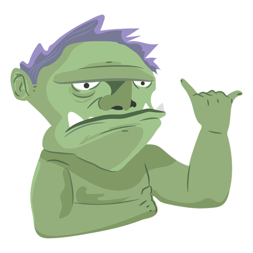 Creature monster man icon Transparent PNG