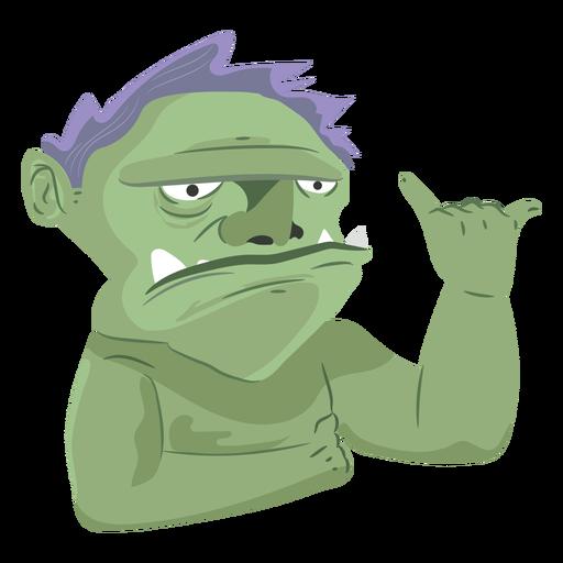 Icono de hombre monstruo criatura Transparent PNG