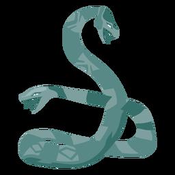 Icono de serpiente de dos caras de criatura