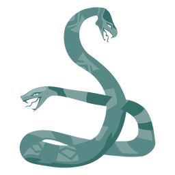 Symbol für zwei Gesichter einer Schlange