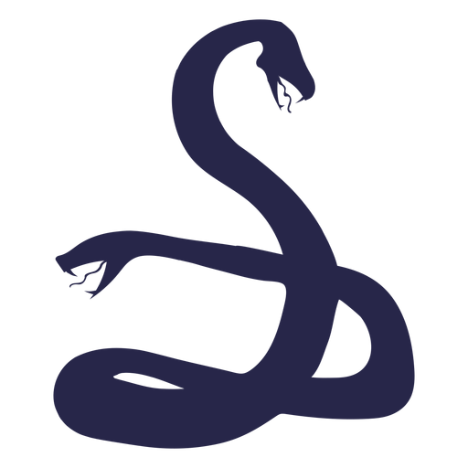 Creature two faced snake silhouette
