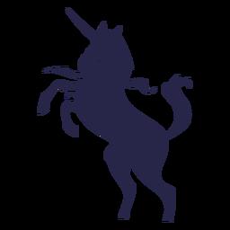 Silueta de criatura unicornio
