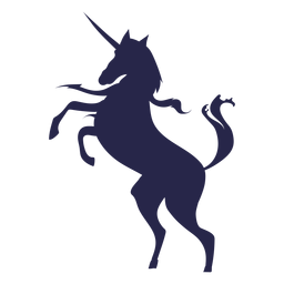 Silueta de unicornio de criatura