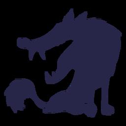 Creature wolf like silhouette
