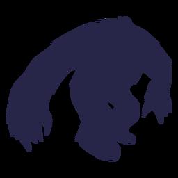 Silhueta de yeti de criatura