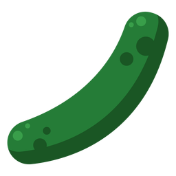 Cucumber vegetable single flat