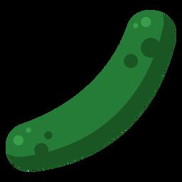 Pepino vegetal solo plano