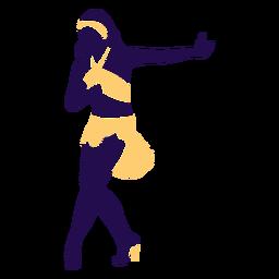 Danza pose bola cambio dama silueta