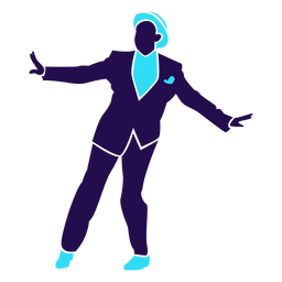 Dance pose ball change man silhouette
