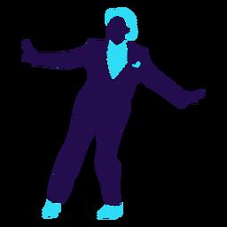 Dance pose ball change man silhouette