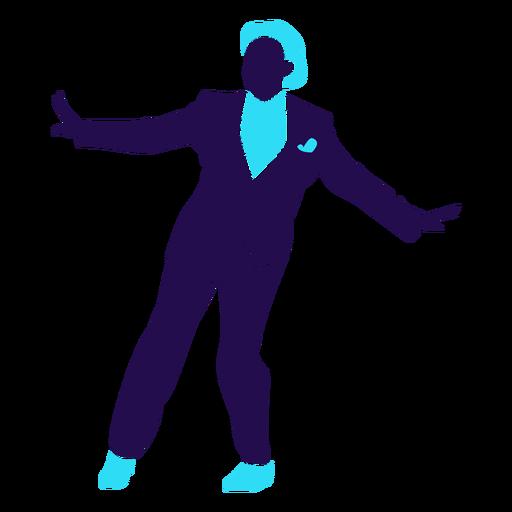 Danza pose bola cambio hombre silueta