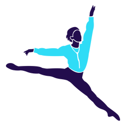 Dance pose ballet jump silhouette