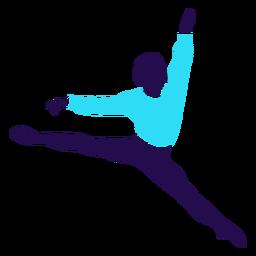 Silhueta de salto de pose de dança