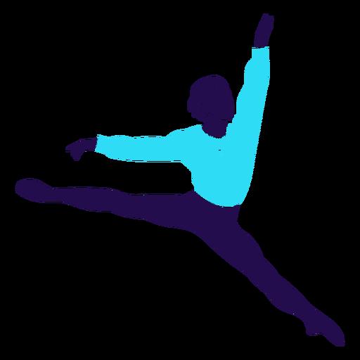 Dance pose ballet jump silhouette Transparent PNG