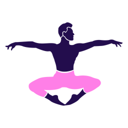 Dance pose ballet sitting silhouette