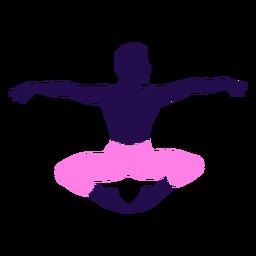 Pose de baile ballet sentado silueta