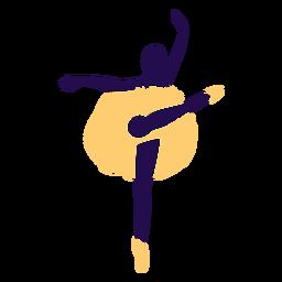 Danza pose ballet punta del pie silueta