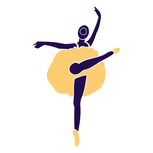 Baile pose ballet punta punta silueta Transparent PNG