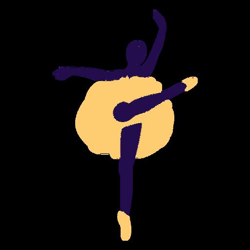 Dance pose ballet tip toe silhouette Transparent PNG