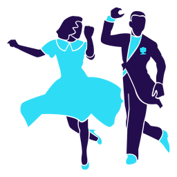 Baile pose dúo salón de baile silueta