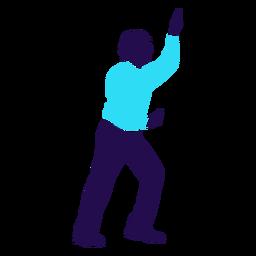 Dance pose break dance silhouette