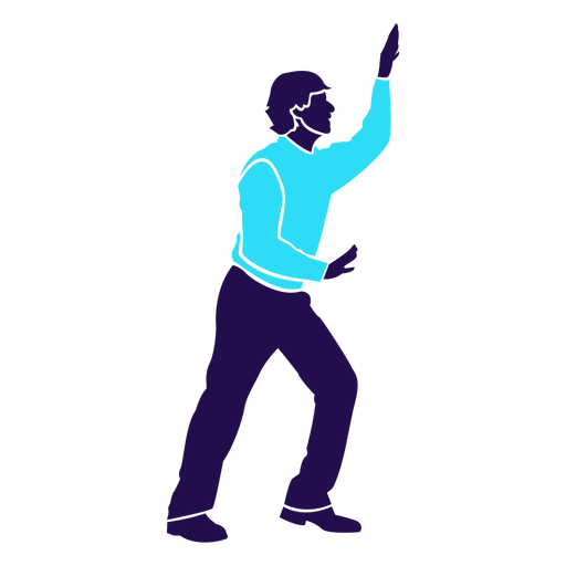Dance pose break dance silhouette Transparent PNG